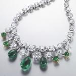 Ожерелье с изумрудами и алмазами