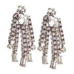 Серебряные серьги с бриллиантами Мэрилин Монро