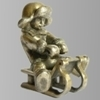 Серебряная скульптура «Саночки»