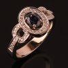 Женское золотое кольцо «Сапфиры Арды» с сапфиром и бриллиантами