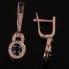 Женские золотые серьги «Сапфиры Арды» с сапфирами и бриллиантами